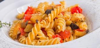 Tomates e beringelas da massa Imagem de Stock Royalty Free
