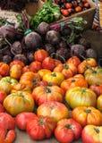 Tomates e beterrabas Foto de Stock