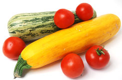 Tomates e courgette Fotos de Stock Royalty Free