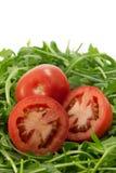 Tomates e foguete Foto de Stock Royalty Free