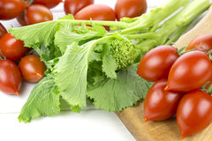 Tomates e nabos Foto de Stock