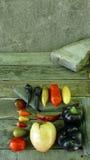 Tomates e pepers Foto de Stock