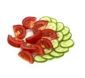 Tomates e pepinos Fotografia de Stock Royalty Free