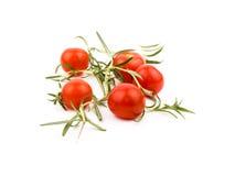 Tomates e rosemary de cereja Imagem de Stock