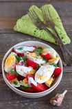 Tomates e salada dos ovos Fotografia de Stock