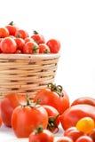 Tomates e tomates de cereja Fotografia de Stock Royalty Free