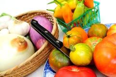 Tomates e vegetais Foto de Stock Royalty Free