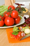 Tomates e vegetais Foto de Stock Royalty Free