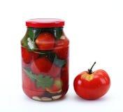 Tomates en boîte Images libres de droits