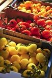 Tomates en el mercado Foto de archivo