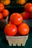 Tomates en una cesta Imagen de archivo