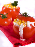 Tomates enchidos foto de stock