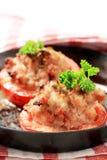 Tomates enchidos com carne à terra Fotografia de Stock