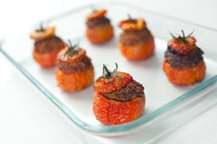 Tomates enchidos da carne Imagem de Stock Royalty Free