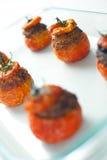 Tomates enchidos da carne Fotografia de Stock Royalty Free