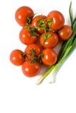Tomates enteros mojados Imagenes de archivo