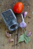 Tomates et épices Image libre de droits