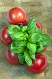 Tomates et basilic Images stock