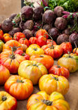 Tomates et betteraves photos stock
