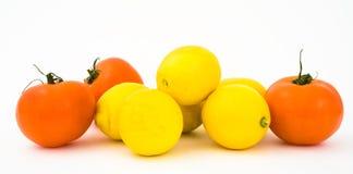 Tomates et citrons Images stock