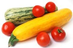 Tomates et courgette Photos libres de droits