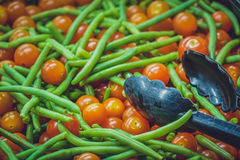 Tomates et haricots verts photo stock