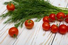 Tomates et herbes Photographie stock libre de droits