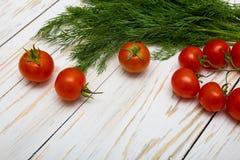 Tomates et herbes Photos libres de droits