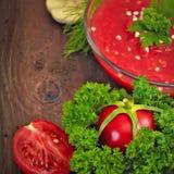 Tomates et herbes fraîches Photos libres de droits