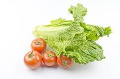 Tomates et légumes organiques Photos stock
