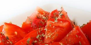 Tomates et origan 4 Photos stock