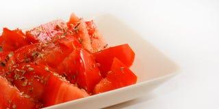 Tomates et origan 5 Images stock