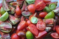 Tomates fraîches de coupe Image libre de droits