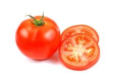 Tomates fraîches rouges d'isolement sur le fond blanc, tomates mûres o Image stock
