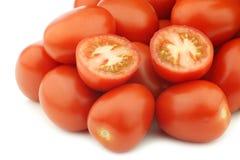 Tomates fraîches et colorées de Roma d'Italien Photo libre de droits