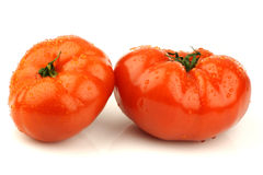 Tomates frescos da carne fotografia de stock royalty free