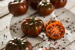 Tomates frescos Fondo rojo de los tomates Grupo de tomates Fotos de archivo