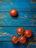 Tomates frescos y maduros Foto de archivo libre de regalías