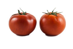 2 tomates grandes Fotos de Stock Royalty Free