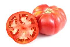 Tomates grandes rojos Imagenes de archivo