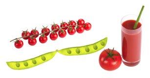 Tomates herry de ¡ de Ð sur la branche photo stock