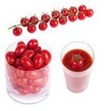 Tomates herry de ¡ de Ð sur la branche Photographie stock