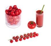 Tomates herry de ¡ de Ð sur la branche photos stock