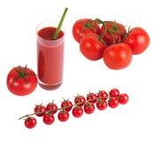 Tomates herry do ¡ de Ð no ramo Fotografia de Stock
