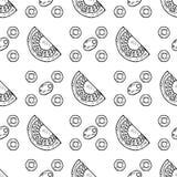 Tomates inconsútiles de las rebanadas, aceitunas ilustración del vector