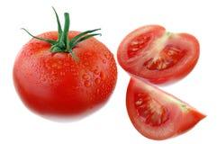 Tomates isolados no branco Foto de Stock Royalty Free