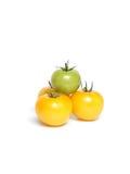 Tomates jaunes et vertes Image stock