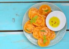 Tomates jaunes mûres et juteuses Image stock