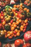 Tomates mûres colorées fraîches, foyer sélectif Image libre de droits