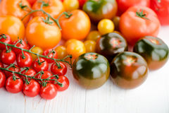 Tomates mûres fraîches Photos libres de droits